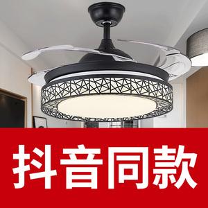 <span class=H>吊扇</span>灯风扇灯静音客厅餐厅卧室家用简约带电风扇的吊灯隐形风扇灯