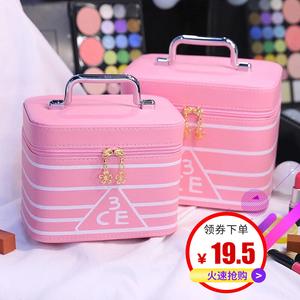 3ce<span class=H>化妆包</span>小号韩国便携简约小方包大容量收纳包少女心手提化妆箱