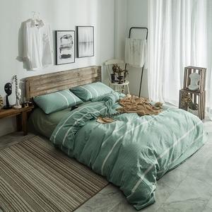 紫罗兰水洗棉纯色简约四件套全棉床单被套床上用品单双人<span class=H>床品</span><span class=H>套件</span>