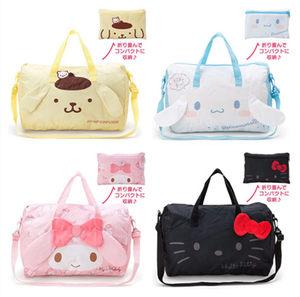 卡通可折叠行李袋手提包休闲单肩包拉杆<span class=H>旅行包</span>衣物收纳袋打包袋女