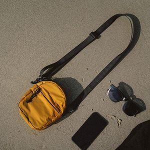 复古姜黄色旅行迷你单肩斜挎小包女手机零钱包学生纸巾便携小包包