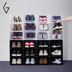 goto球鞋<span class=H>收纳盒</span>高帮AJ鞋盒透明篮球鞋收藏展示收藏鞋墙柜防潮抗菌