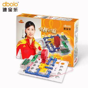迪宝乐电子积木118拼668拼1366拼2008拼智力开发电子电路积木<span class=H>玩具</span>