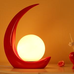 简约现代个性床头灯 创意结婚艺术温馨浪漫时尚调光装饰卧室台灯