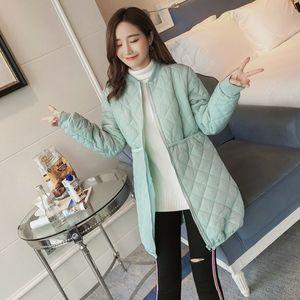棉衣服女冬季孕妇棉服冬孕后期轻薄款羽绒棉衣中长款韩版宽松外套