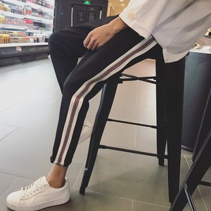 夏季男士速干休闲裤子男装便宜19.9包邮修身学生上班工作薄款韩版