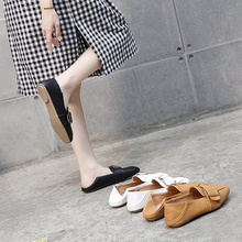 British Wind Shoes Spring 2019 New Fairy Single Shoes Korean Edition Red Bean Shoes Late and Evening Shoes Flat-soled Leather Shoes