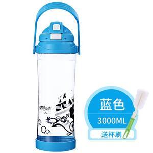 亚奇大容量水杯太空杯便携大水杯塑料户外运动<span class=H>水壶</span>超大水杯3000