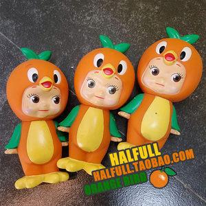 【halfull】orange bird <span class=H>丘比</span> <span class=H>娃娃</span> 立体 硬体公仔 玩偶