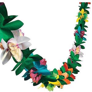 圣诞节装饰七彩<span class=H>纸拉花</span>生日派对六角花瓣3D立体花朵3米拉花夏威夷