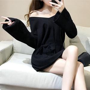 潮2017夜店性感女神范女装夜场气质衣服2018新款春装显瘦连衣裙