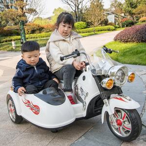 好来喜儿童电动摩托车男女宝宝可坐<span class=H>童车</span>电瓶双座小孩玩具车三轮车