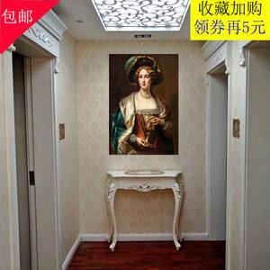 欧式玄关桌沙发条几美式玄关柜靠墙桌半圆玄关台走廊柜<span class=H>案台</span>门厅柜