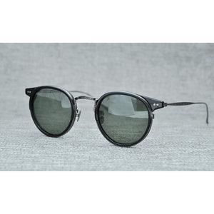 日韩超轻全钛配板材偏光太阳眼镜透明流行时尚墨镜