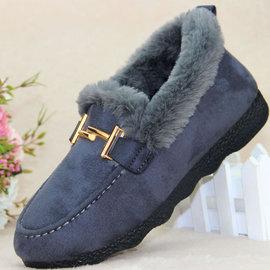 软底雪地靴女50岁女鞋女士冬季老北京棉鞋2018新款布鞋老太太靴子