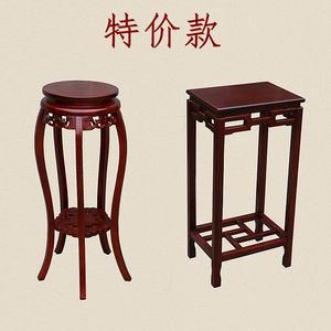 中式室内置物架花架实木花盆架单个包邮客厅落地木质简约架子特价