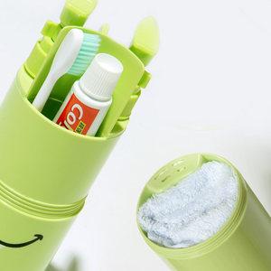 旅行洗漱杯套装出差旅游<span class=H>洗护</span>用品牙刷牙膏收纳洗漱包便携分装瓶