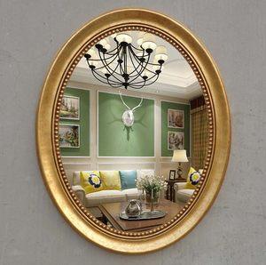 新款简约欧式美式卫生间大椭圆形壁挂卫浴镜浴室镜梳妆镜<span class=H>化妆镜</span>子