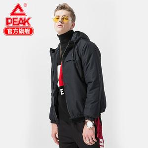 匹克冬季新款男子<span class=H>棉衣</span>保暖轻便耐磨简洁大方户外运动休闲外套男