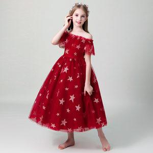 花童礼服女公主蓬蓬<span class=H>裙</span>儿童晚礼服女童走秀钢琴演出服小主持人礼服
