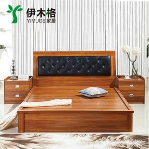 板式储物床简约现代1.5米/1.8米高箱气动双人床婚床特价包邮
