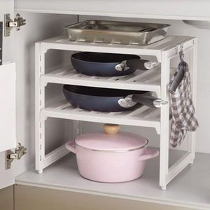 日本进口厨房用品置物架层架橱柜收纳架锅架水槽储物架落地碗碟架
