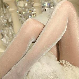 闪亮珠光丝袜秋冬超薄透明肉色隐形包芯丝长筒连裤<span class=H>袜子</span>女黑色性感