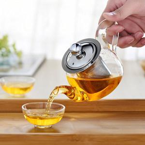 耐热玻璃红茶泡茶壶冲茶器透明功夫<span class=H>茶具</span>小号茶壶玻璃过滤泡花茶壶