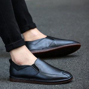 秋冬季<span class=H>豆豆</span><span class=H>鞋</span><span class=H>男鞋</span>子英伦男士休闲<span class=H>鞋</span>商务皮<span class=H>鞋</span>保暖棉<span class=H>鞋</span>青年懒人潮<span class=H>鞋</span>