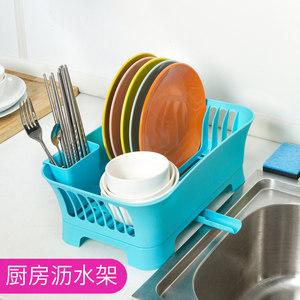 厨房置物架沥水碗架碗<span class=H>碟</span>盘子餐具滴水收纳架碗柜塑料沥水架