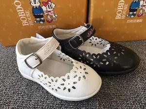童鞋女童头层猪皮内里皮鞋<span class=H>板鞋</span>2018春季中小童婴儿宝宝休闲儿童鞋