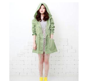韩国日本风格女士<span class=H>雨衣</span>成人雨披长款旅行休闲甜美时尚风衣走路