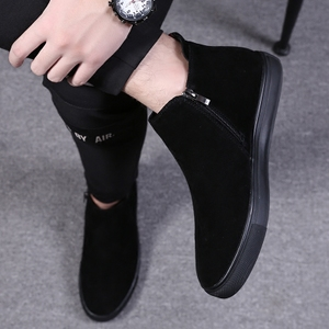 <span class=H>男鞋</span>冬季<span class=H>高帮鞋</span>男士休闲中帮马丁靴男加绒保暖棉<span class=H>鞋子</span>高邦板鞋潮鞋