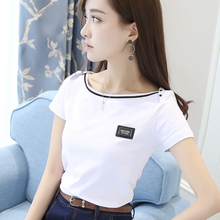 Short-sleeved cotton T-shirt for women in the summer of 2019