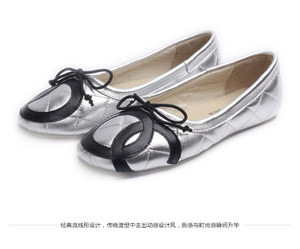 <span class=H>银色</span>羊皮浅口单鞋牛筋底芭蕾舞平底鞋欧美<span class=H>蝴蝶结</span>旅游鞋子真皮<span class=H>女鞋</span>