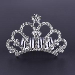 韩国儿童发饰小女孩可爱公主皇冠发卡发箍水钻插梳演出王冠<span class=H>头饰品</span>