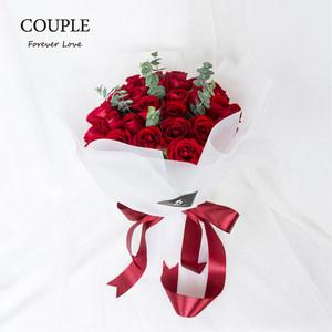 couple厦门<span class=H>鲜花</span>速递同城红玫瑰33朵情人节生日表白婚礼花束送女友