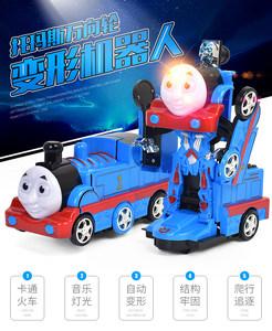 托马斯小火<span class=H>车</span>头自动变形机器人儿童变形警<span class=H>车</span>万向轮男孩声光<span class=H>玩具</span><span class=H>车</span>