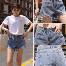 Jeans shorts for women in the summer of 2019