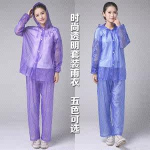 雨衣雨披透明雨裤套装分体式成人户外徒步防水套装一次性.