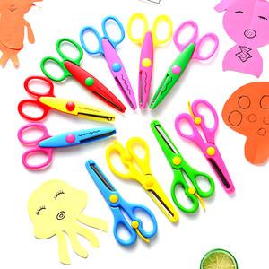 幼儿园专用 不钝 不伤手 塑料安全剪 <span class=H>花边剪</span>刀  儿童<span class=H>剪刀</span>安全手工