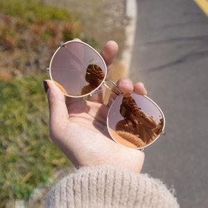 墨镜女圆脸韩版潮太阳<span class=H>眼镜</span>明星同款防紫外线网红街拍大框圆形显瘦