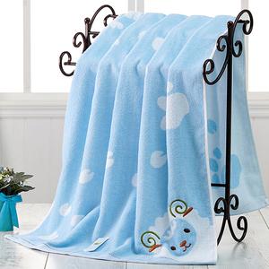 婴儿<span class=H>浴巾</span>夏季纯棉新生儿宝宝超柔软吸水儿童加大长方形<span class=H>毛巾</span>被加厚