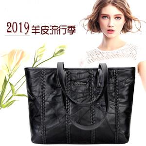 2019新款羊皮女包真皮单肩包手提时尚气质女包大容量休闲OL潮流包