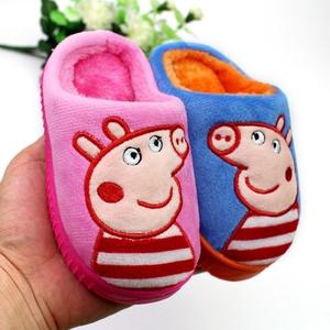 新款秋冬季儿童<span class=H>棉拖鞋</span>男女宝宝中大童可爱防滑保暖厚