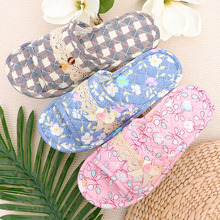 Household slippers, summer, autumn and winter seasons, indoor antiskid cloth, floor, soft floor, mute household slippers.