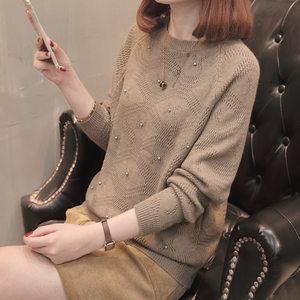<span class=H>蝙蝠衫</span>毛衣女短款外套韩版宽松套头针织衫长袖上衣女秋装2018新款