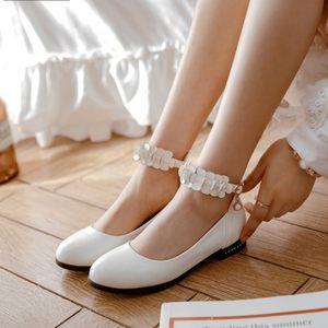 2018韩版少女公主鞋初中高中学生演出鞋舞蹈表演鞋中童大童女<span class=H>单鞋</span>