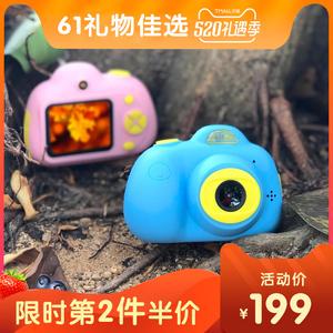 儿童数码照<span class=H>相机</span>玩具可拍照打印宝宝mini小单反高清趣味卡通男女孩