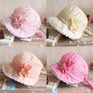 新生儿帽子春夏0-3-6-12个月宝宝遮阳帽幼儿帽婴儿<span class=H>太阳帽</span>男女公主